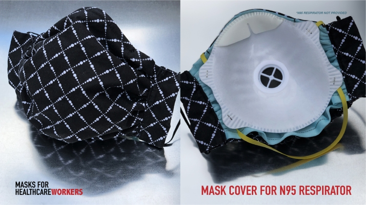N95 cover reusable 100% cotton breathable adjustable 4 layer protection face mask for everyone in healthcare